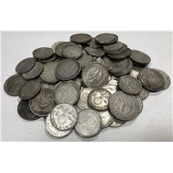 GERMANY: Third Reich, LOT of 69 Third Reich silver 2 mark swastika types