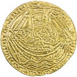 ENGLAND: Henry VI, 1422-1461, AV noble (6.41g), London, ND (ca. 1422-1430). VF