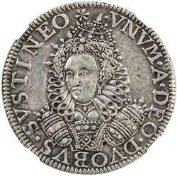 ENGLAND: Elizabeth I, 1558-1603, AR cast pattern groat (4.31g), 1601. NGC EF