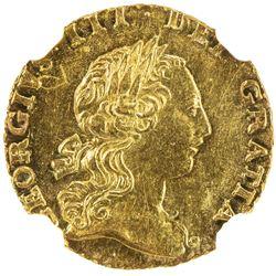 GREAT BRITAIN: George III, 1760-1820, AV 1/4 guinea, 1762. NGC MS62