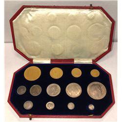GREAT BRITAIN: Edward VII, 1901-1910, proof set, 1902. PF