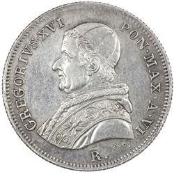 PAPAL STATES: Gregory XVI, 1831-1846, AR 30 baiocchi, 1836-R. EF-AU