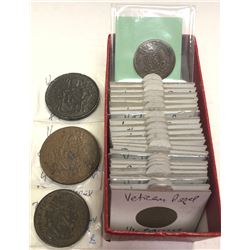 PAPAL STATES: LOT of 28 copper coins, retail value $825