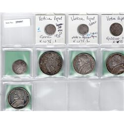 PAPAL STATES: LOT of 8 silver coins, retail value $675