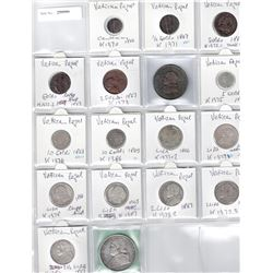 PAPAL STATES: LOT of 16 decimal coins, retail value $400
