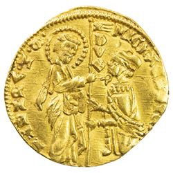 VENICE: Michele Steno, 1400-1413, AV ducato (3.56g), ND, Paol-p. 38, 1, Fr-1230, Biaggi-2858, AU