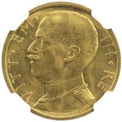 ITALY: Vittorio Emanuele III, 1900-1946, AV 50 lire, 1931-R year IX. NGC MS65