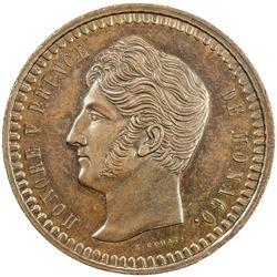 MONACO: Honore V, 1819-1841, AE decime, 1838. UNC