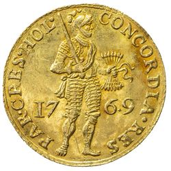 HOLLAND: Dutch Republic, AV ducat (3.46g), Holland, 1769. EF