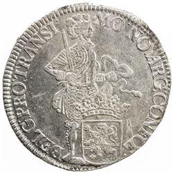 OVERIJSSEL: Dutch Republic, AR silver ducat, 1736. EF