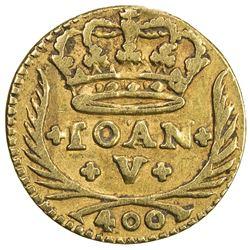 PORTUGAL: Joao V, 1706-1750, AV 400 reis, Lisbon, 1741. VF