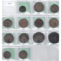 PORTUGUESE COLONIES: LOT of 13 scarce type coppers