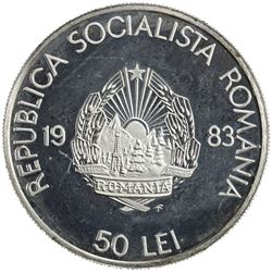 ROMANIA: Socialist Republic, AR 50 lei, 1983-FM. UNC