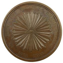 RUSSIA: Nicholas I, 1825-1855, AE medal, 1838. AU