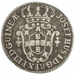 ANGOLA: Jose I, 1750-1777, AR 4 macutas, 1762. F-VF