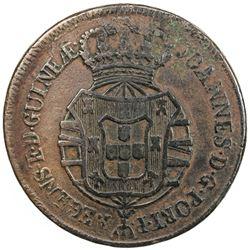 ANGOLA: Joao, as Prince Regent, 1799-1816, AE 2 macutas, 1816. F-VF