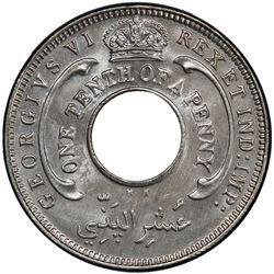 BRITISH WEST AFRICA: George VI, 1936-1952, 1/10 penny, 1946-KN. PCGS SP66