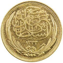 EGYPT: Hussein Kamel, 1914-1917, AV 100 piastres, 1916/AH1335. AU