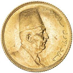 EGYPT: Fuad, as King, 1922-1936, AV 20 piastres, 1923/AH1341. UNC