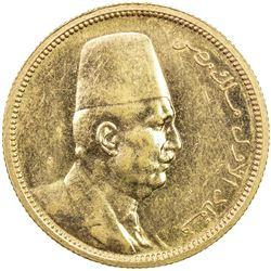 EGYPT: Fuad, as King, 1922-1936, AV 100 piastres, 1922/AH1340. BU