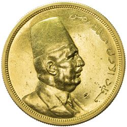 EGYPT: Fuad, as King, 1922-1936, AV 500 piastres, 1922/AH1340. AU