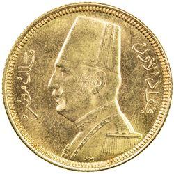 EGYPT: Fuad, as King, 1922-1936, AV 20 piastres, 1929/AH1348. UNC