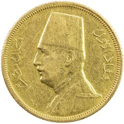 EGYPT: Fuad, as King, 1922-1936, AV 50 piastres, 1929/AH1348. EF