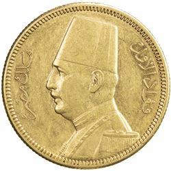 EGYPT: Fuad, as King, 1922-1936, AV 100 piastres, 1929/AH1348. EF