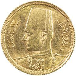 EGYPT: Farouk, 1936-1952, AV 20 piastres, 1938/AH1357. BU