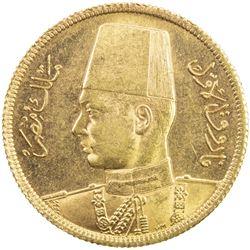 EGYPT: Farouk, 1936-1952, AV 50 piastres, 1938/AH1357. UNC