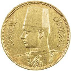 EGYPT: Farouk, 1936-1952, AV 100 piastres, 1938/AH1357. AU