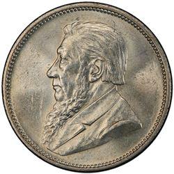 SOUTH AFRICA: Zuid Afrikaansche Republiek, AR 2 shillings, 1897. PCGS MS63
