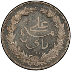 TUNISIA: Ali Bey, 1882-1902, AR 4 piastres, AH1308. PCGS MS66