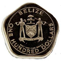 BELIZE: Commonwealth, AV 100 dollars, 1981. PF