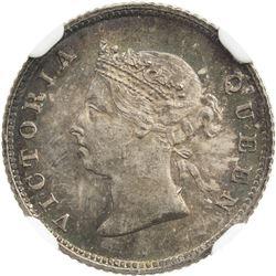BRITISH GUIANA: Victoria, 1837-1901, AR 4 pence, 1891. NGC MS65