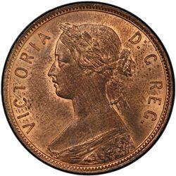 NEWFOUNDLAND: Victoria, 1837-1901, AE cent, 1896. PCGS MS64