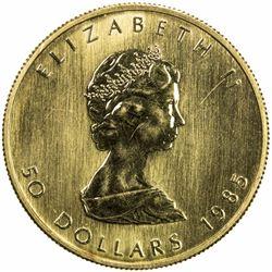 CANADA: AV 50 dollars (31.10g), 1985. BU