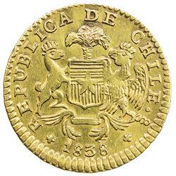 CHILE: Republic, AV escudo, 1838-So. VF