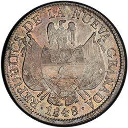 COLOMBIA: Nueva Grenada, AR 10 reales, Bogota, 1848. PCGS AU58