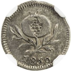 COLOMBIA: Nueva Grenada, AR 1/4 real, 1850. NGC AU58