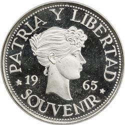CUBA: Republic, AR souvenir peso, 1965. ICG PF67