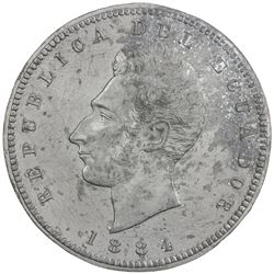 ECUADOR: Republic, 1 sucre, 1884. EF