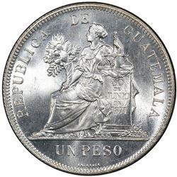 GUATEMALA: Republic, AR peso, 1894. PCGS MS66