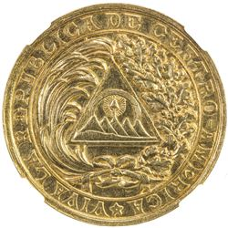 GUATEMALA: Republic, AV medal (3.003g), 1890. NGC MS61