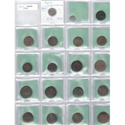HAITI: LOT of 29 scarce type coins, retail value $600, ex Wolfgang Schuster Collection