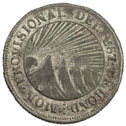 HONDURAS: State, BI 2 reales (3.86g), 1845. EF