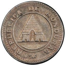 HONDURAS: Republic, AR 5 cents, 1896/86. PCGS MS64