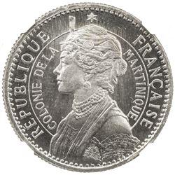 MARTINIQUE: 1 franc, 1[897]. NGC UNC