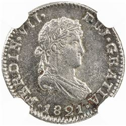 MEXICO: Fernando VII, 1808-1821, AR 1/2 real, 1821-Mo