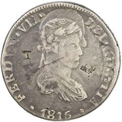 MEXICO: Fernando VII, 1808-1822, AR 8 reales (25.95g), 1819-Ca. F-VF
